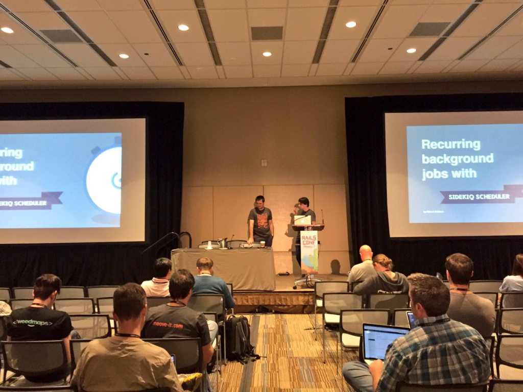 Moove-it Ruby on Rails application, Sidekiq Scheduling Presentation at RailsConf