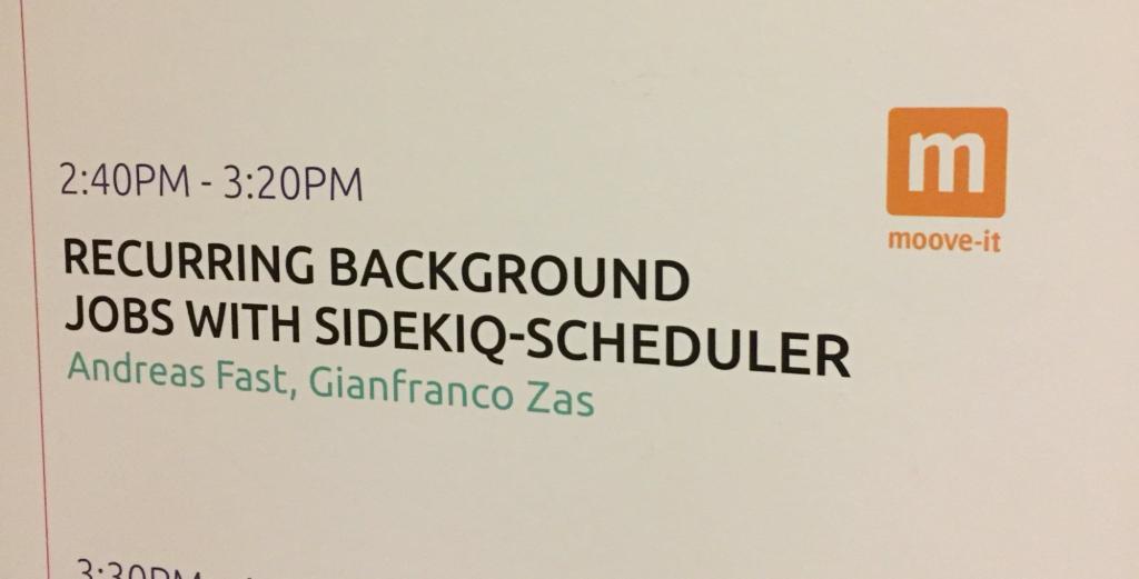 Moove-it Sidekq Scheduling Presentation at RailsConf